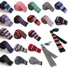 New Fashion Male Brand Slim Designer Knitted Neck Ties Cravate Narrow Skinny Neckties For Men Freeshipping C1
