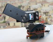 Envío gratis 2 DOF Pan largo y Tilt Servos soporte de montaje del Sensor kit para Robot Arduino compat