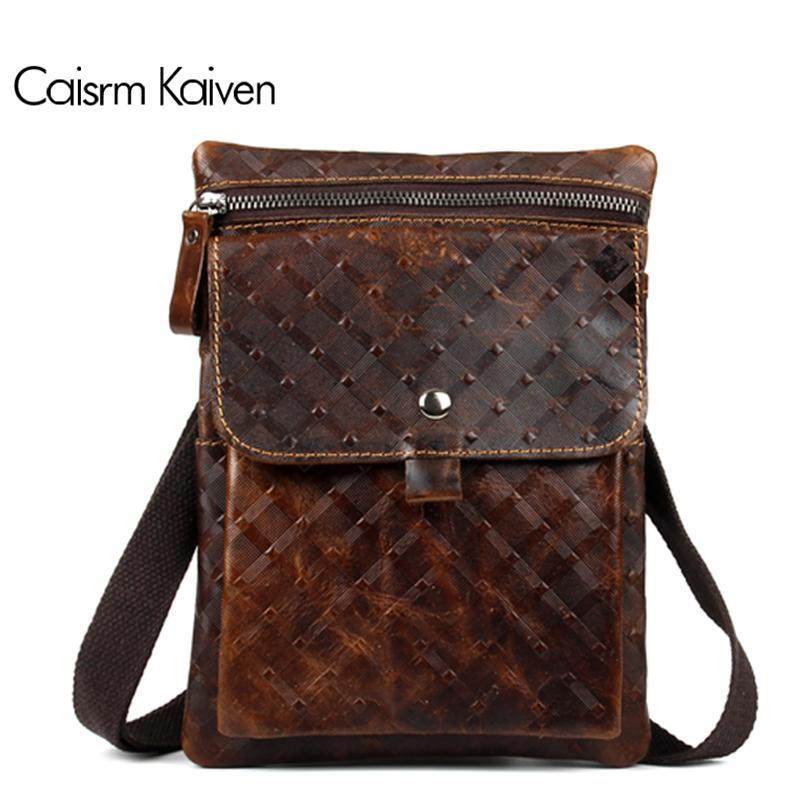 Oil wax leather man bag man bag Messenger bag retro Messenger cofferdam counterfeit mobile phone bags men handbags Travel 2016(China (Mainland))