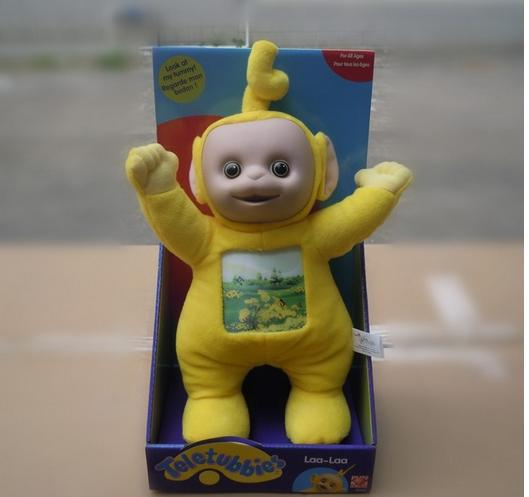 Free shipping 3D version of the new Teletubbies Teletubbies plush toys genuine boxed toy doll toys(China (Mainland))