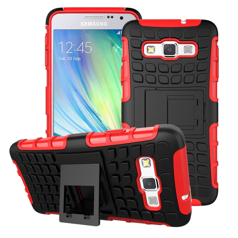 Heavy Duty Impact Hybrid Armor Cover Hard Plastic Case for Samsung Galaxy A3 A300 A300F With Kickstand Phone Cases IDOOLS(China (Mainland))