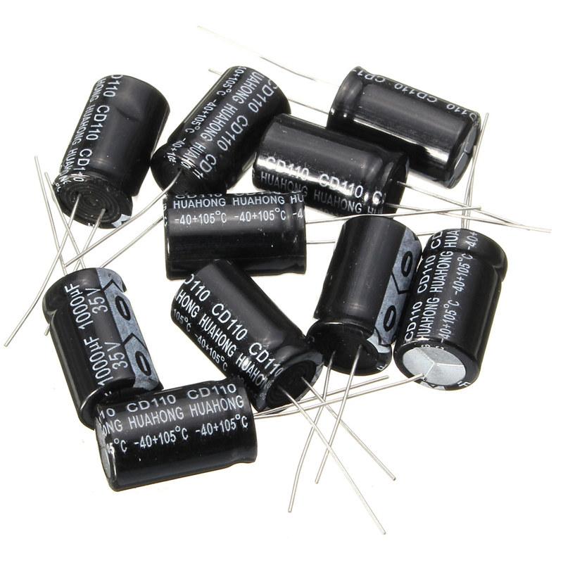 20PCS 1000UF 35V 105 °C 13x21mm 35V1000UF Electrolytic capacitor