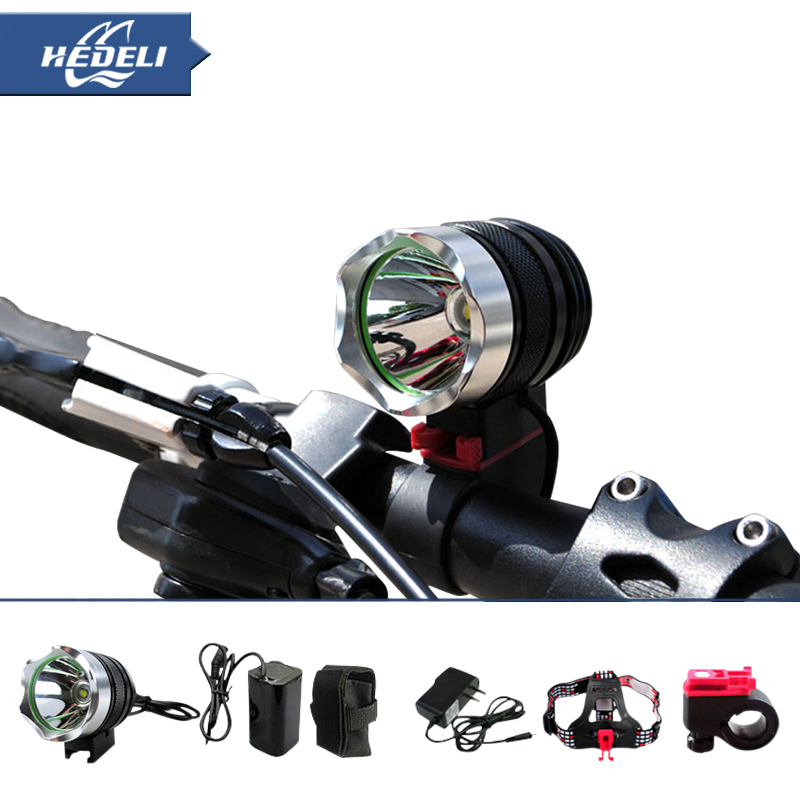 2000 Lumens bike light CREE XM L T6 LED bicycle light Headlamp Complete set accessories Dual-use Including batteries HT302(China (Mainland))