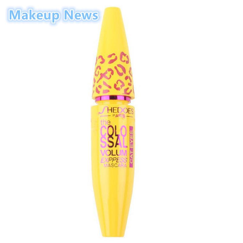 1pcs Mascara Volume Express COLOSSAL Mascara with Collagen Cosmetic Extension Long Curling Waterproof Eyelash Black 3D fiber(China (Mainland))