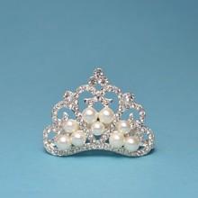 200pcs lot 3Colors DIY Elegant Pearl Crown For Wedding Bridal Bridesmaid Decorative Crystal Rihnestone Tiara Crown