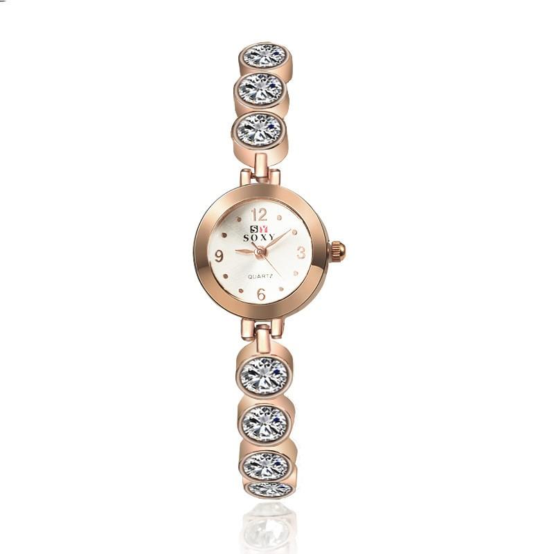 Новое поступление кристалл циркона браслет вахты браслета вахты случае алмаз моды диких женские часы