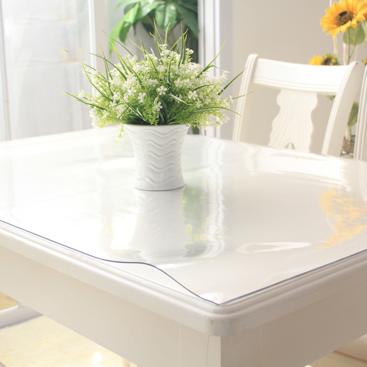 100x100cm Waterproof Clear PVC Tablecloth Protector Table Linens Cover Cloth Home Dining Table Decor(China (Mainland))