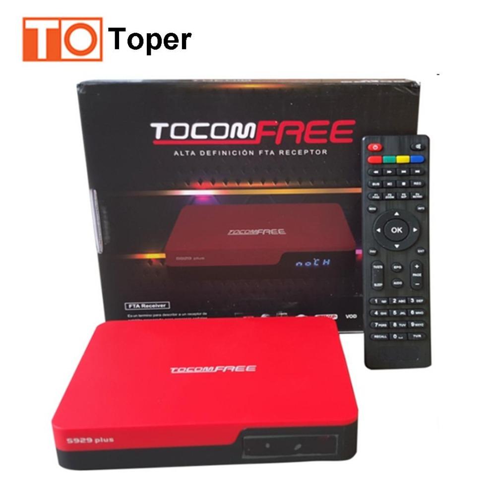 TocomFREE S929 Plus Satellite TV Receiver FTA Satellite Receiver America Media Box for South America the Same as Azfree DUO(China (Mainland))