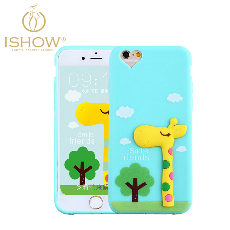Cute Cartoon 3D Animals Soft TPU Phone Case for Iphone 5 5s Candy Color Coque for Women Girls Decorative Fundas(China (Mainland))