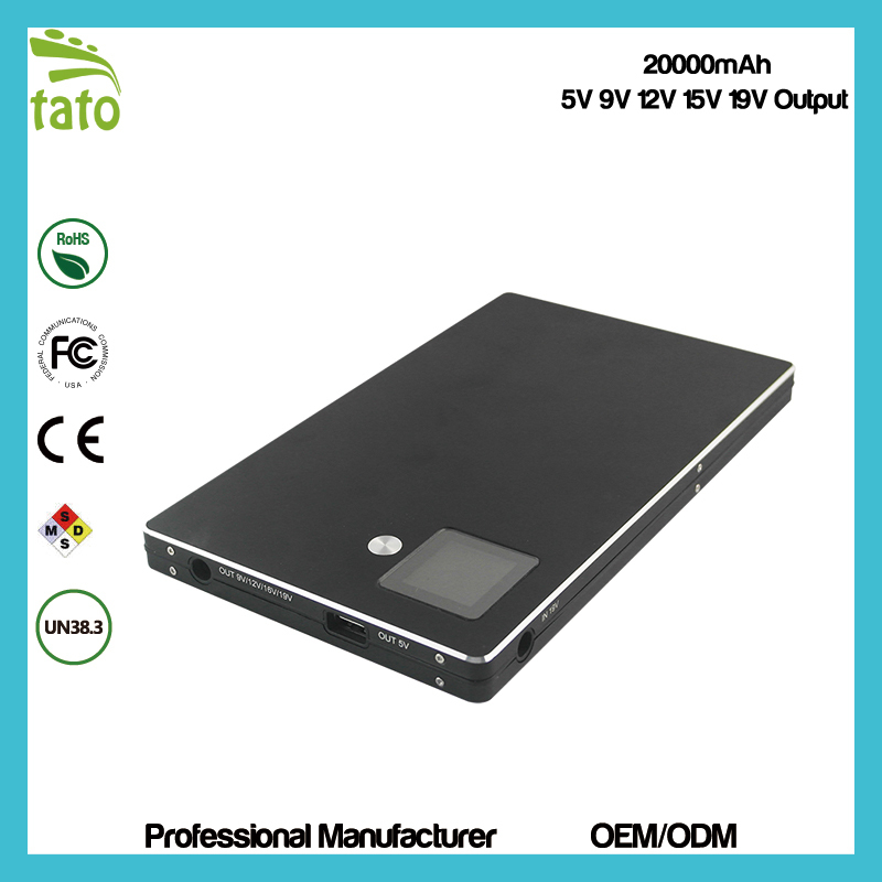 Emergency Portable 18650 external Battery laptop Power Bank/ high efficiency fast charging for notebook power bank(China (Mainland))