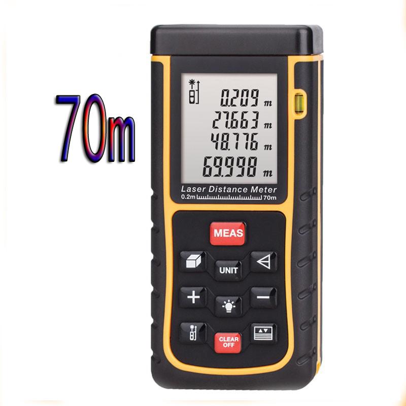 Handheld 70m 229ft Mini Digital Laser Distance Meter Range Finder Measure Area Volume Bubble Level Measurer Laser Rangefinder<br><br>Aliexpress