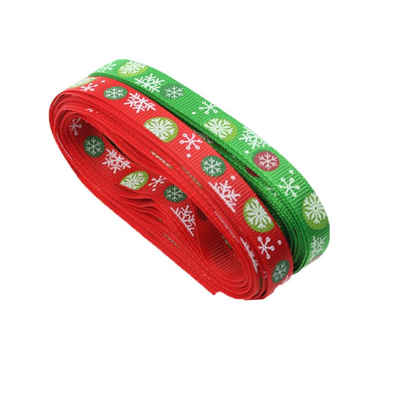 20yards/lot Christmas Holiday Winter Grosgrain for Hair ribbon Bows Gift Wrapping DIY handmade materials,headwear accessories(China (Mainland))