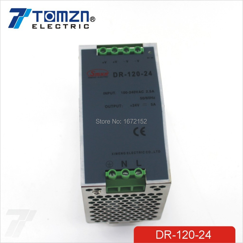 120W 24V 5A Din Rail Single Output Switching power supply