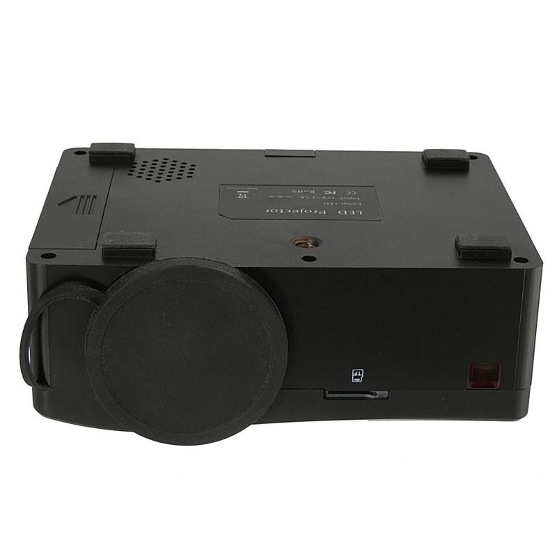 Plastic Black HD 1080P Home Theater LED Mini Black Multimedia Projector Cinema USB TV HDMI MT Durable(China (Mainland))