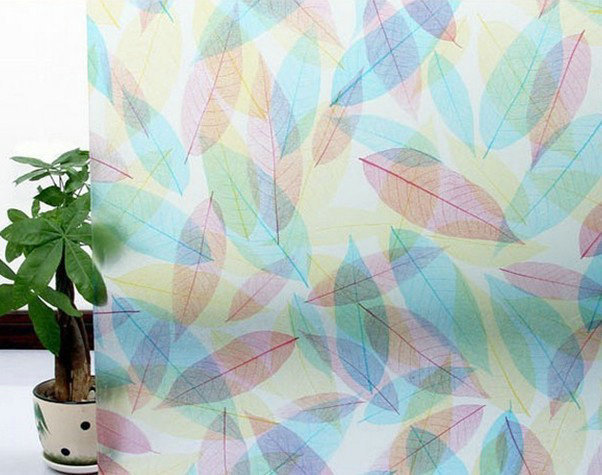 90cmX200cm top grade PVC self adhesive decorative frosted privacy window film 027 mural wallpaper 3d(China (Mainland))