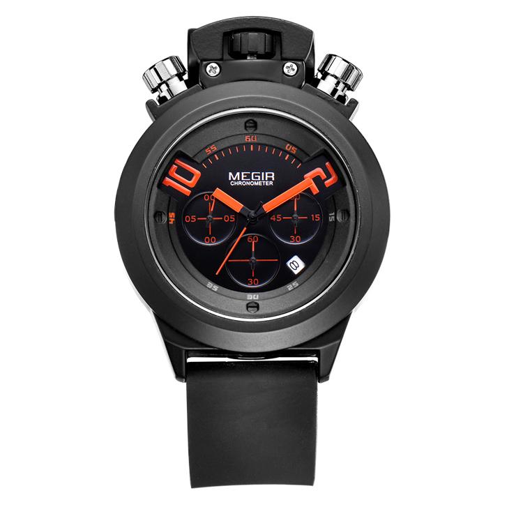 2015 Men Quartz Watch Sales Fashion Leisure Silicone Man Waterproof Watches Multifunctional Megir Brand Watches(China (Mainland))