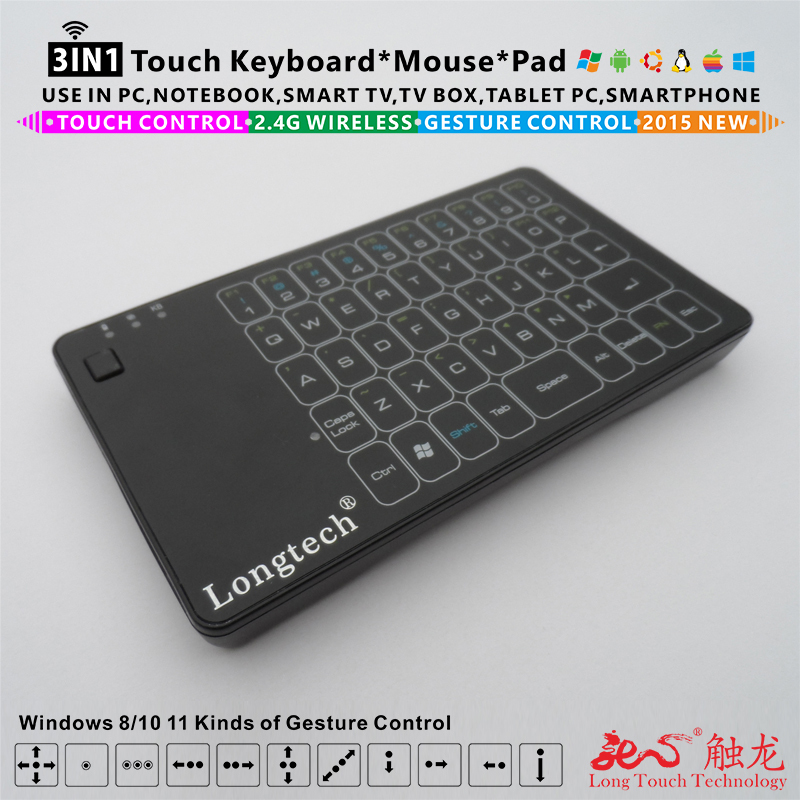 New 2015 100% Original for Logitech K400 K400R K400 Pro Upgrade wireless full touchpad keyboard / mice with multitouch control(China (Mainland))