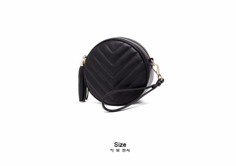 Small Circular Bag Women 2016 New Casual Chain Single Shoulder Tassel Plaid PU Shoulder Bag LadyJapan Style Cheap Crossbody