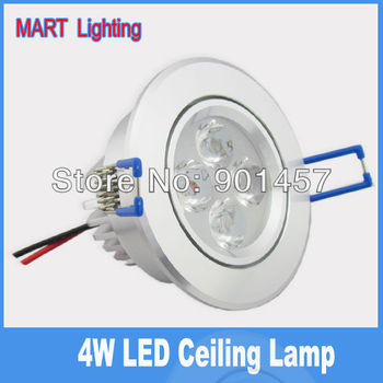 4W  Luxury LED recessed ceiling lamp integrated leans spot downlights 450lm 85X42mm