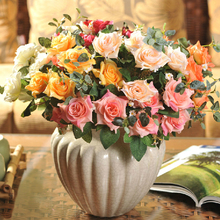 Artificial Rose Silk Simulation Flowers Bouquet For Room House Arches Decoration(China (Mainland))