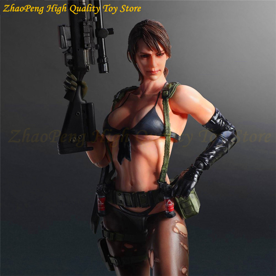 Play Arts Metal Gear Solid V The Phantom Pain Quiet America Anime Movable RPG PS4 Action Figure Toys 25cm Collection Model FB124