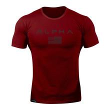 2018 Verão new Fashion Casual camiseta Musculação Aptidão masculina manga curta Slim fit Camisas de algodão T tops roupas(China)