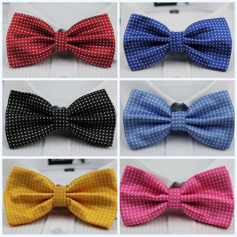 More Color DOT Men's Bowtie Bow Tie Pre-Tied Adjustable Tuxedo Bowtie, 22 COLORS Mix free shiping(China (Mainland))