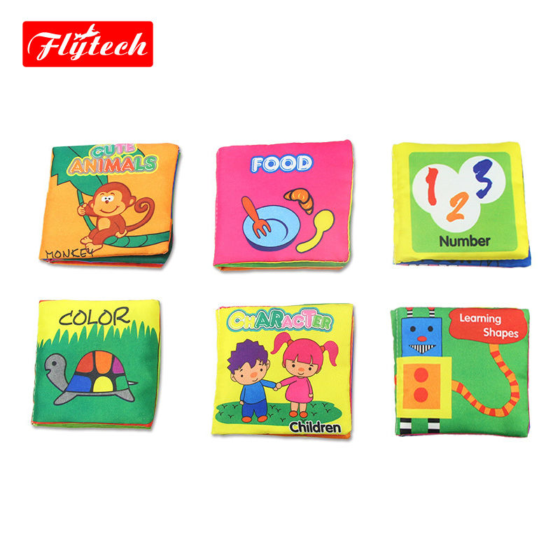 FT1355 Baby Toys Infant Kids Early Intelligence Development Cloth Books Cognize Book Toys(China (Mainland))