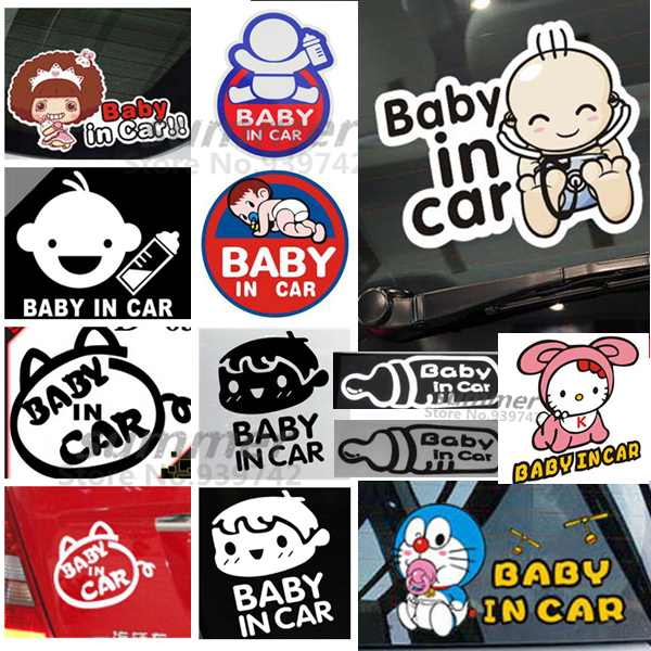 Cool Baby Board baby car inside Funny Car Sticker decal vinyl styling Reflective Decal Rear Windshield - Summer's Store store