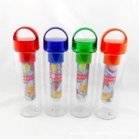 750ML BPA FREE TRITAN Fruit  Infuser Water Bottle Sports  Travel Health Lemon Juice Flip lip Make Bottle