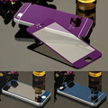 9H Full Cover Front Back Electroplating Mirror Effect Tempered Glass Screen Protector Film case For iphone