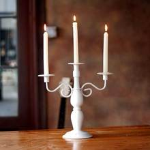 European classical three hands creative wedding iron Candle Holders  candlestick for ornaments candlelight dinner 2016 fashion(China (Mainland))