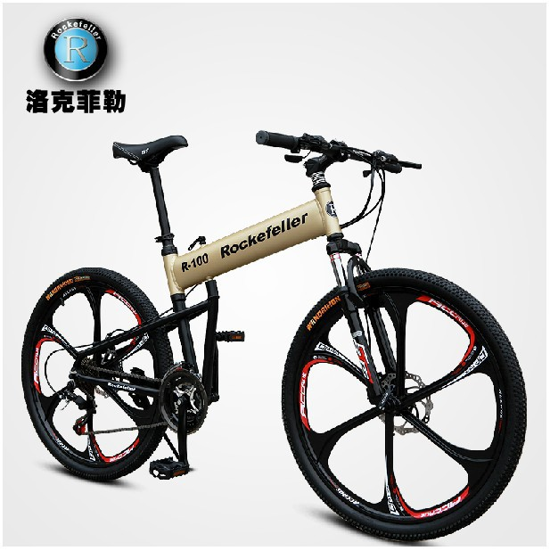 New Rockefeller folding bicycle hummer aluminum alloy frame 21 speed xi ma double disc brake full suspension mountain bike(China (Mainland))