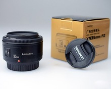 Buy YONGNUO 35mm Lens YN35mm F2 Lens AF / MF Wide-Angle Large Aperture Fixed/Prime Auto Focus Lens Canon EF Mount EOS Camera for $87.99 in AliExpress store