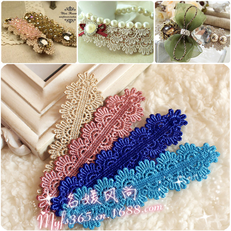 Sale 2015 20pcs/lot 25mm A piece of DIY jewelry rave lace lace piece gold flower hair accessories materials wholesale(China (Mainland))