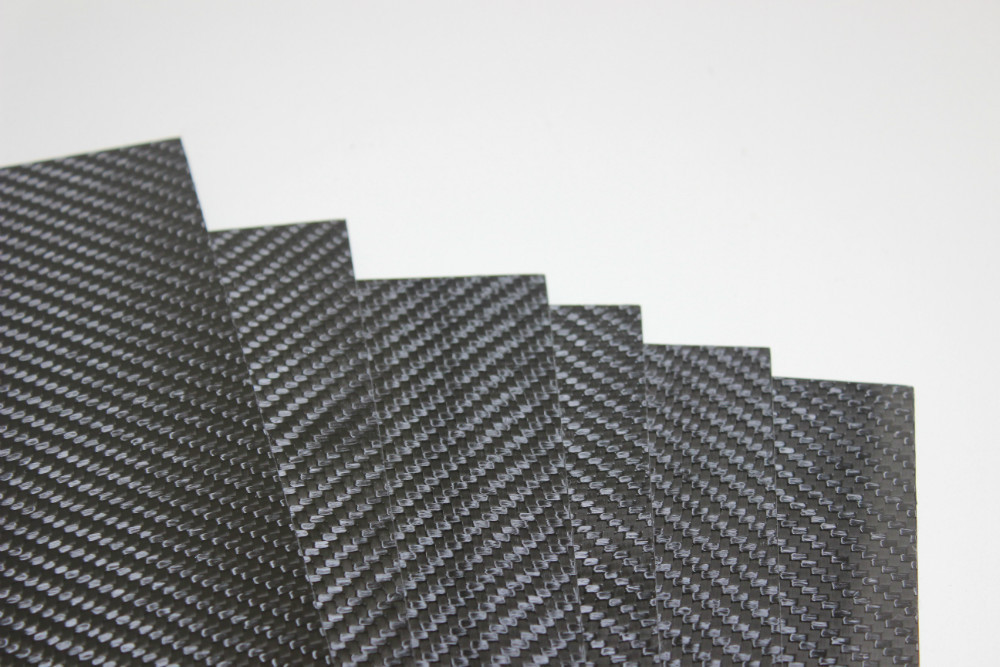 Free shipping 500*500*1mm (2pcs/lot) Carbon Fiber Plate 1mm 3K twill / matte for RC product(China (Mainland))