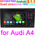 HD1024 600 4 Cores Quad Core Pure Android Car DVD Player For AUDI A4 2002 2003
