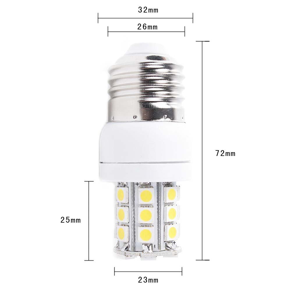 Wholesale SMD 5050 27 LED E27 base type 270LM 5W warm White Energy saving Corn Light Bulb 220V CE Rohs approval