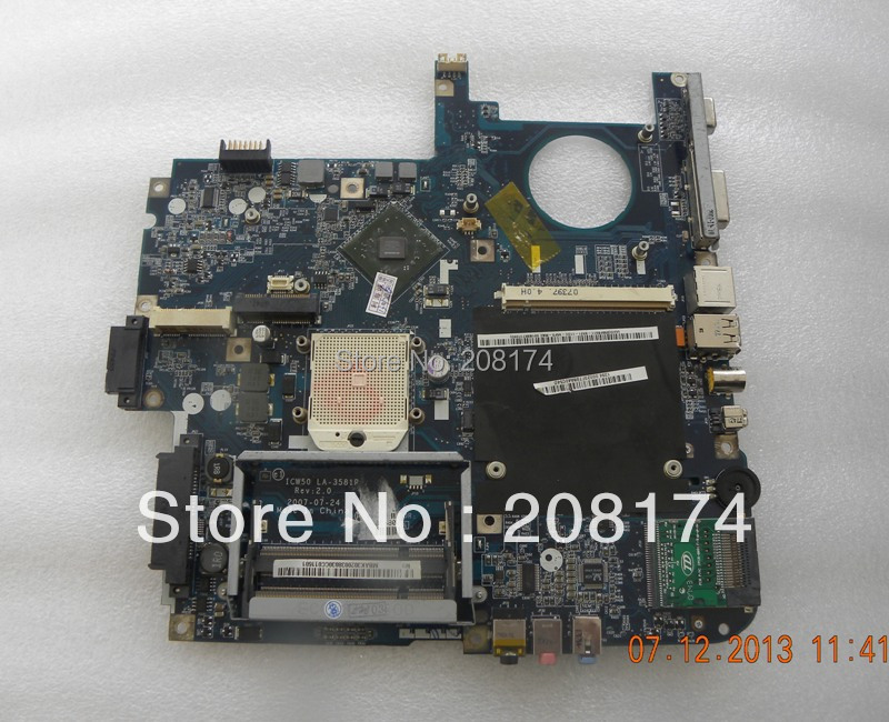 Laptop MotherBoard ICW50 L11 LA-3581P for Acer Aspire 5520 5520G(China (Mainland))