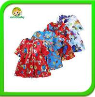 Roupas Infantil Vestir Child Of Party Baby 2014 Girls Summer Cowboy Dress Deep Wave Vestidos  Bebe Princess  Costume girl dress
