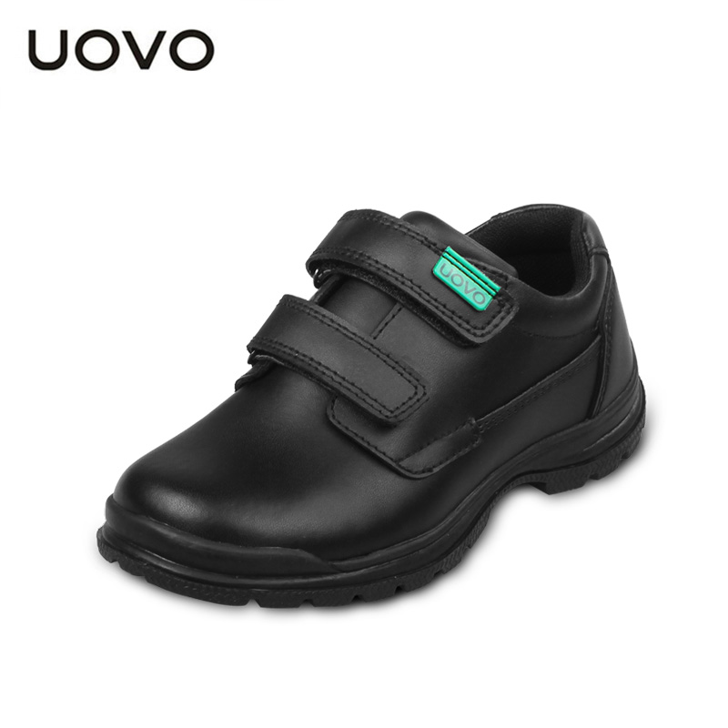 UOVO children shoes 2017 spring and autumn black genuine leather shoes school students kids shoes casual Shoes for boys