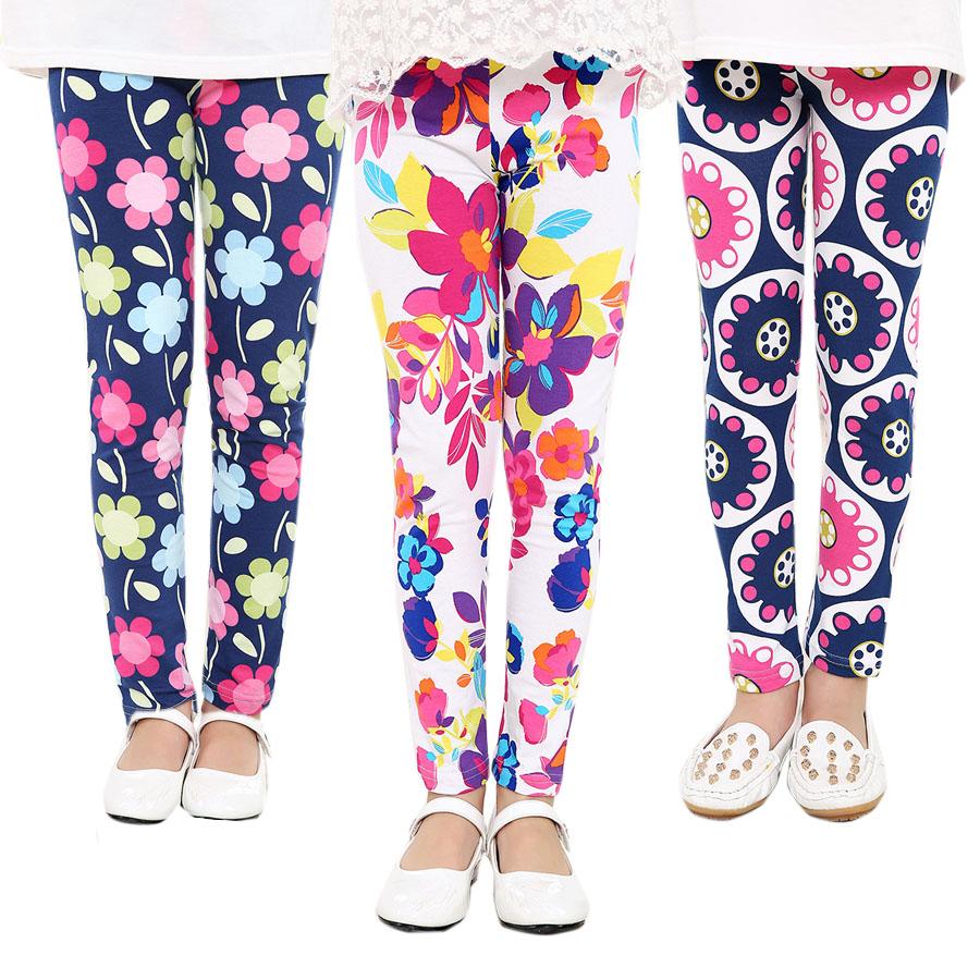 Baby Girl Pants Kids Childrens printing Flower Toddler Classic Leggings girls pants Girls legging 2-14Ybaby girl leggings(China (Mainland))