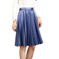 2016 autumn winter vintage women s pu skirts saias na altura do joelho high waist long