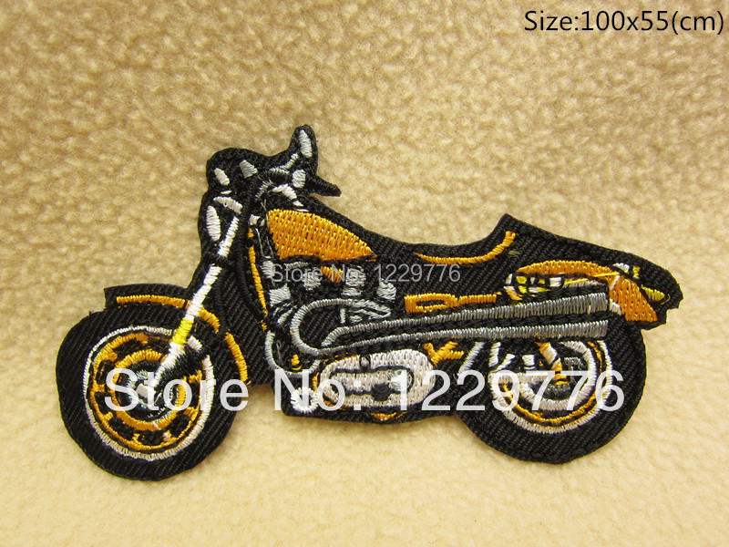 free shipping 10 pcs Cartoon Motorcycle Clothes Quality Appliques DIY garment bag patches A00018(China (Mainland))