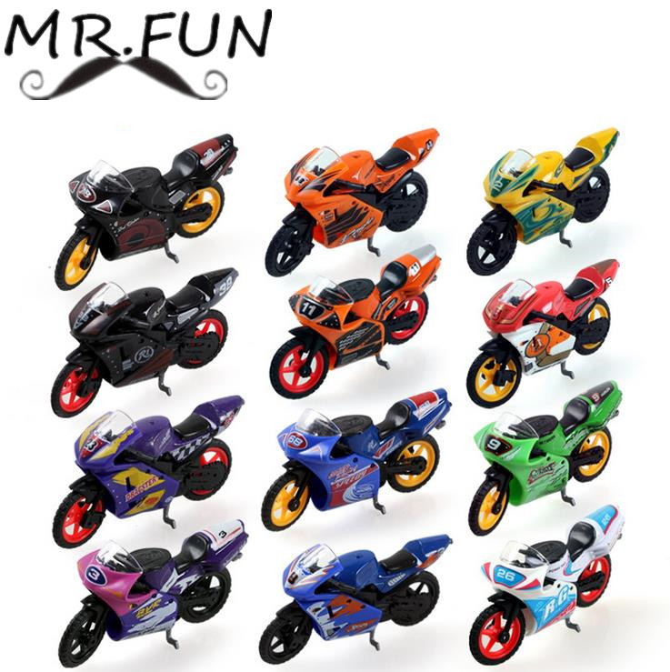 Educational baby toy multi color alloy motorcycly Model kids toys car hot wheels train brinquedos juguetes subaru baby toy HJ024(China (Mainland))