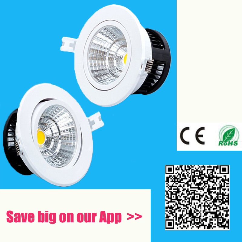 Anti-fog Dimmable Led Downlight COB Ceiling Spot Light 5w 10w 20w 30W ceiling recessed Lights Warm Cool White Indoor Lighting(China (Mainland))