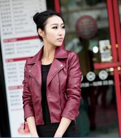 кожаная куртка женщин кожаные куртки пальто тонкий байкер мотоциклов мягкой молнии кожаный jaquetas де couro вопросам плюс размер 2xl 3xl