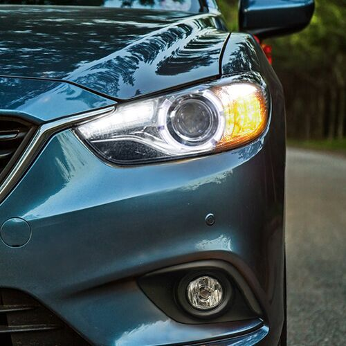 New Car Styling For Mazda ATENZA headlights U angel eyes DRL 2014 For Mazda ATENZA LED light bar DRL Q5 bi xenon lens h7 xenon(China (Mainland))