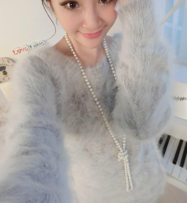 Женский пуловер Shengsen 2015 HairMink 100% CMD-06