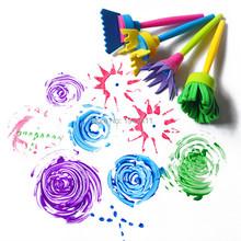 4pcs/lot Creative Flower Stamp Sponge Brush Set Art Supplies for Kids DIY Painting Tools drawaing toys(China (Mainland))